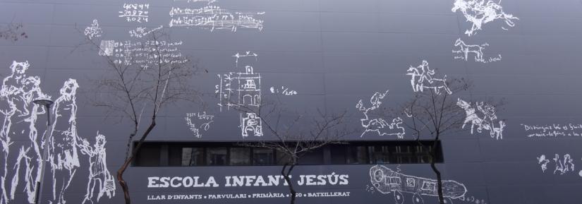 A giant blackboard